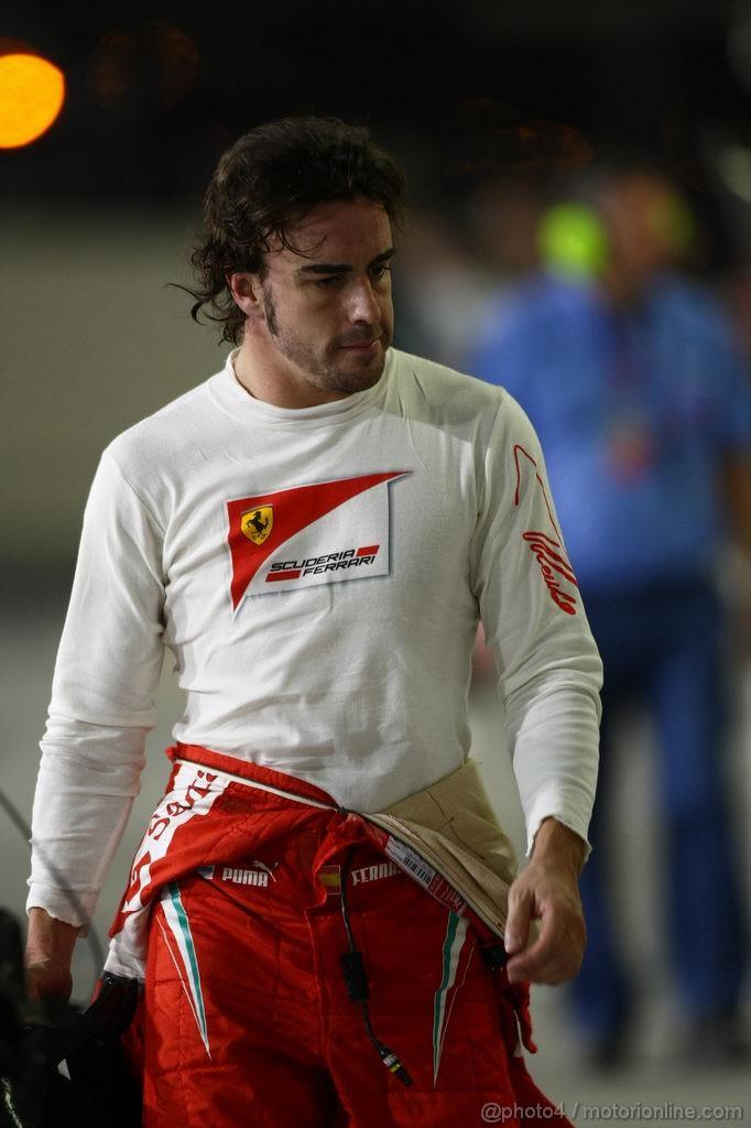 GP ABU DHABI, 11.11.2011- Prove Libere 2, Venerdi', Fernando Alonso (ESP), Ferrari, F-150 Italia