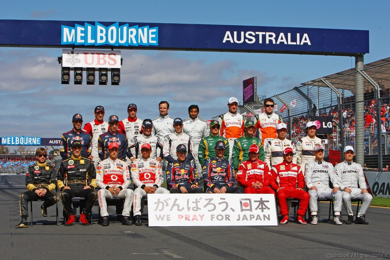 GP AUSTRALIA, 27.03.2011- 2011 F1 Drivers