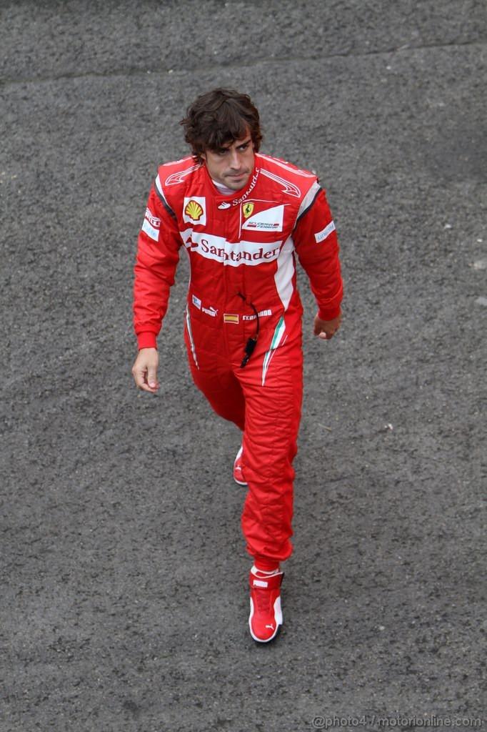 GP BELGIO, 26.08.2011- Prove Libere 1, Venerdi', Fernando Alonso (ESP), Ferrari, F-150 Italia