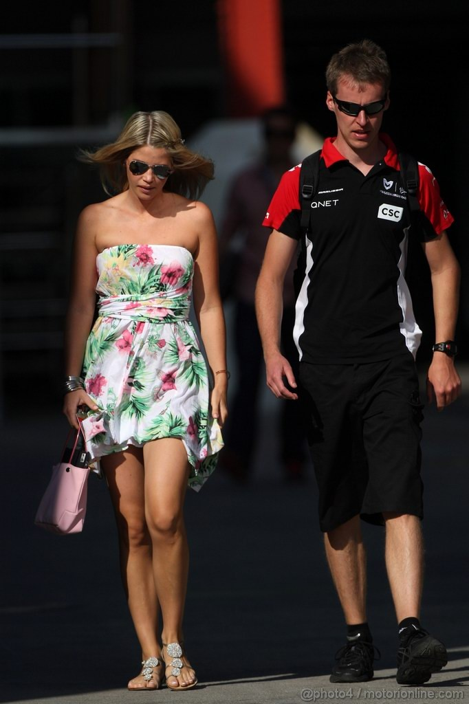 GP EUROPA, 25.06.2011- Isabell Reis, girlfriend of Timo Glock (GER)