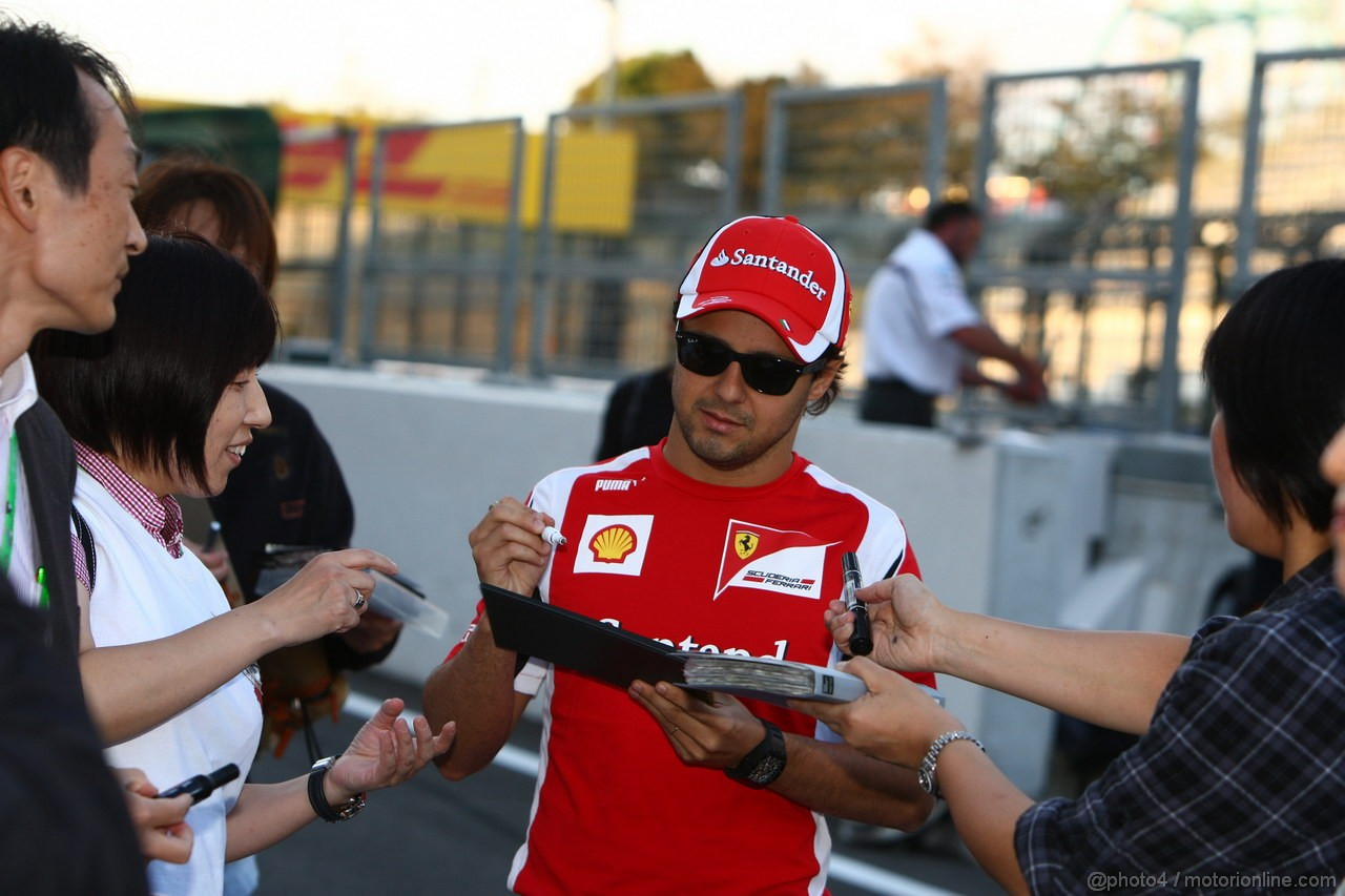 GP GIAPPONE, 06.10.2011- Felipe Massa (BRA), Ferrari, F-150 Italia