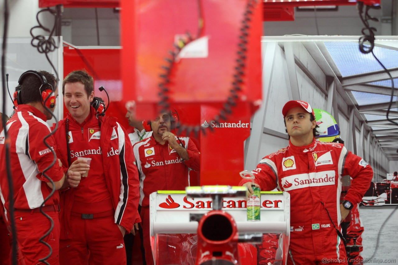 GP KOREA, 14.10.2011- Prove Libere 1, Venerdi', Rob Smedley, (GBR), Ferrari, Track Engineer of Felipe Massa (BRA) e Felipe Massa (BRA), Ferrari, F-150 Italia