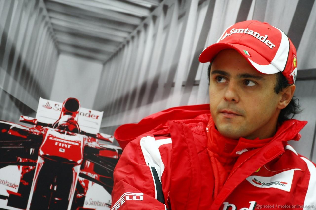 GP KOREA, 14.10.2011- Prove Libere 1, Venerdi', Felipe Massa (BRA), Ferrari, F-150 Italia