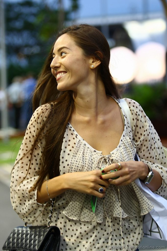 GP SINGAPORE, 22.09.2011- Jessica Michibata (GBR), girfriend of Jenson Button (GBR)