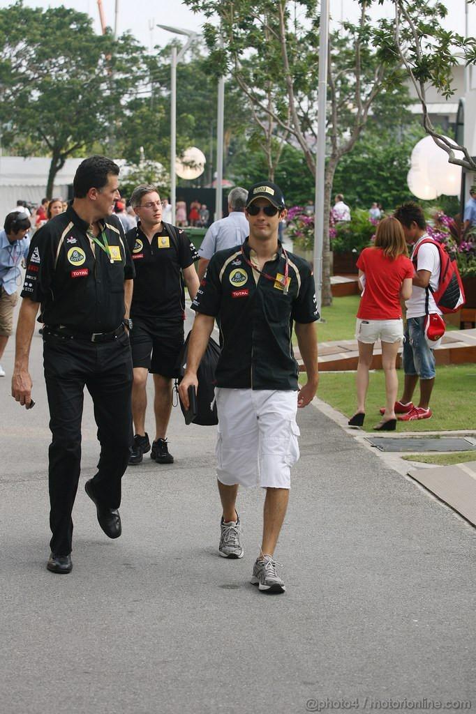 GP SINGAPORE, 24.09.2011- Bruno Senna (BRA), Lotus Renault GP R31