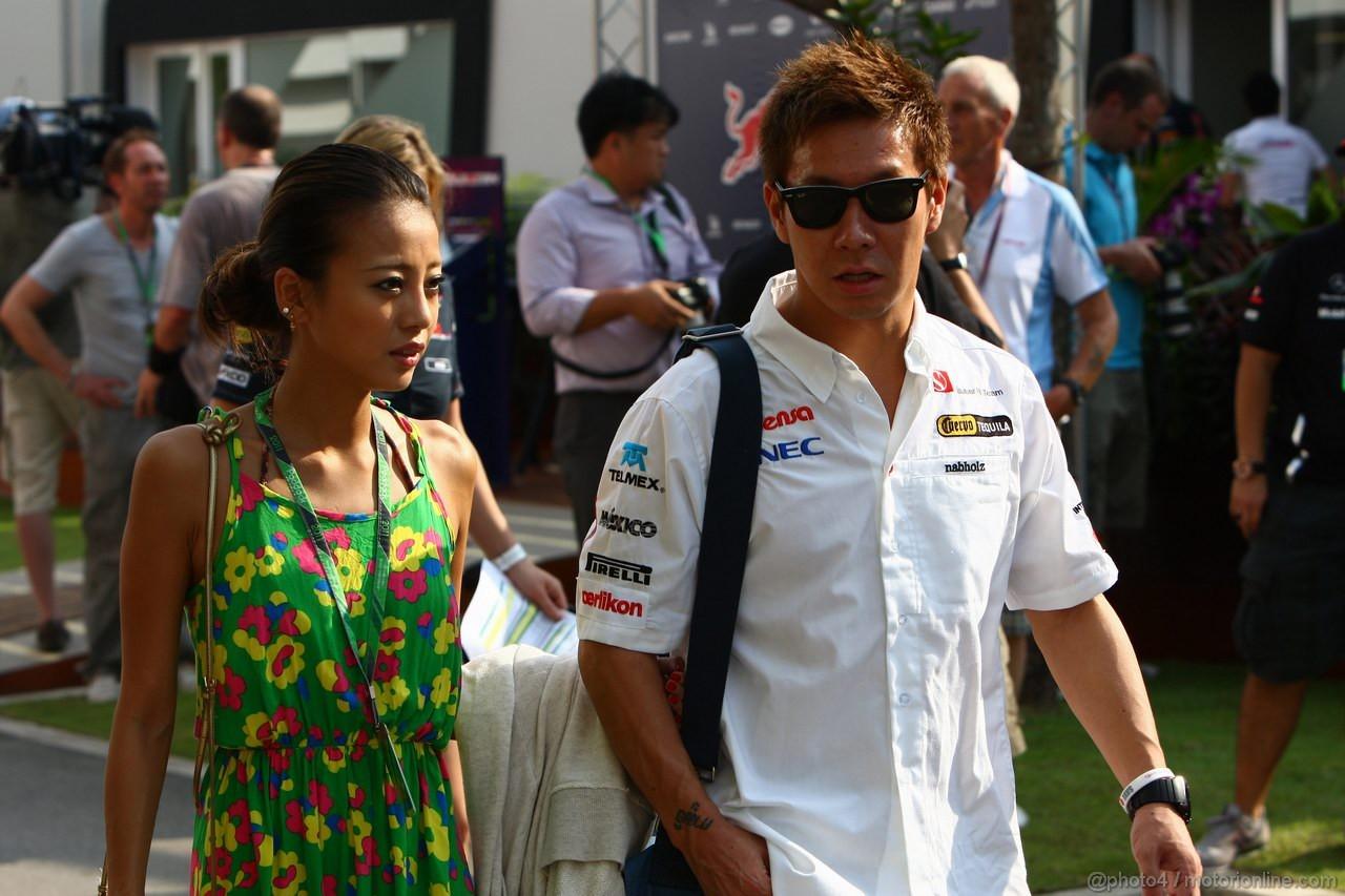 GP SINGAPORE, 23.09.2011- Kamui Kobayashi (JAP), Sauber F1 Team C30