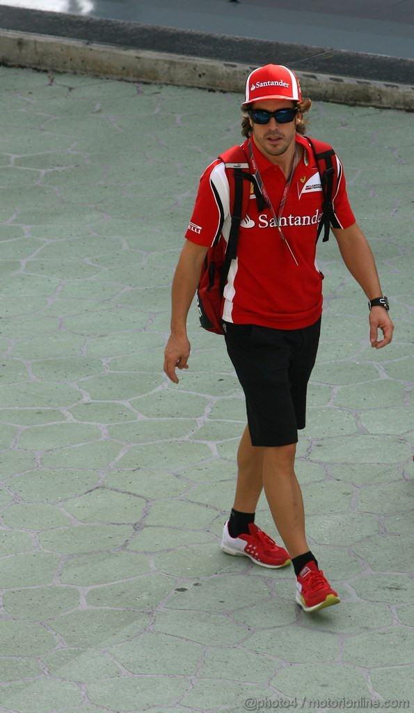 GP SINGAPORE, 23.09.2011- Fernando Alonso (ESP), Ferrari, F-150 Italia