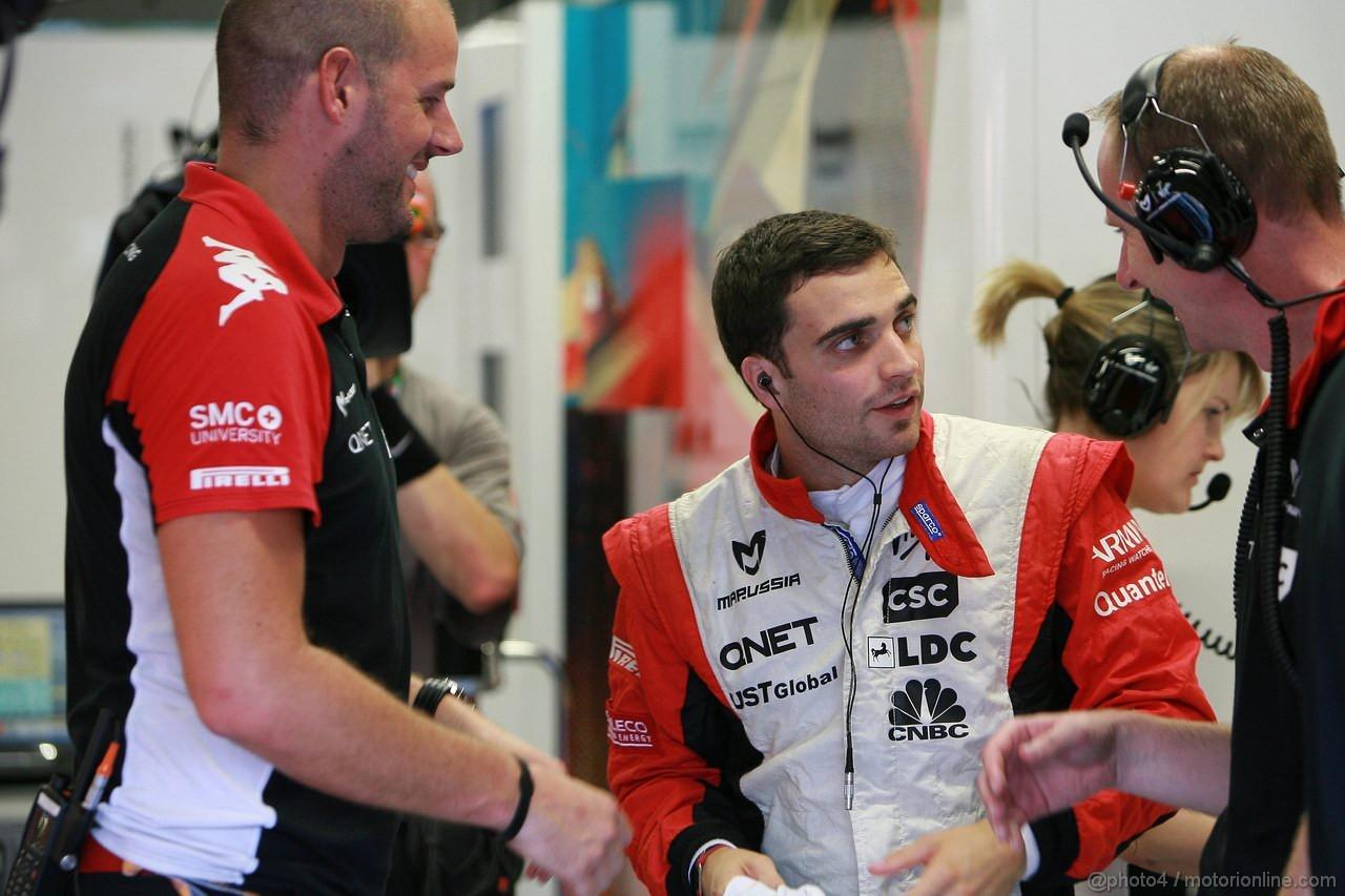 GP SINGAPORE, 23.09.2011- Prove Libere 1, Venerdi', Jerome D'Ambrosio (BEL), Marussia Virgin Racing VR-02