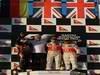 GP AUSTRALIA, 2nd place Sebastian Vettel (GER), Red Bull Racing with 1st place Jenson Button (GBR), McLaren Mercedes e 3rd place Lewis Hamilton (GBR), McLaren Mercedes