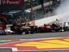 GP BELGIO, 02.09.2012- Gara, Start of the race, Crash, Romain Grosjean (FRA) Lotus F1 Team E20 e Fernando Alonso (ESP) Ferrari F2012