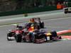 GP BELGIO, 02.09.2012- Gara, Mark Webber (AUS) Red Bull Racing RB8 davanti a Felipe Massa (BRA) Ferrari F2012 e Sebastian Vettel (GER) Red Bull Racing RB8