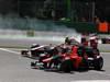 GP BELGIO, 02.09.2012- Gara, Narain Karthikeyan (IND) HRT Formula 1 Team F112 e Charles Pic (FRA) Marussia F1 Team MR01