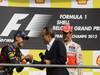 GP BELGIO, 02.09.2012- Gara, secondo Sebastian Vettel (GER) Red Bull Racing RB8 e Jackie Icks with Jenson Button (GBR) McLaren Mercedes MP4-27 vincitore