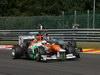 GP BELGIO, 02.09.2012- Gara, Paul di Resta (GBR) Sahara Force India F1 Team VJM05 e Michael Schumacher (GER) Mercedes AMG F1 W03