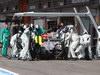 GP BELGIO, 02.09.2012- Gara, Pit Stop, Michael Schumacher (GER) Mercedes AMG F1 W03