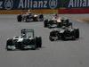 GP BELGIO, 02.09.2012- Gara, Michael Schumacher (GER) Mercedes AMG F1 W03 e Kimi Raikkonen (FIN) Lotus F1 Team E20