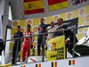 GP BELGIO, 25.08.2013-  Gara, Greenpeace make a protest against race title sponsors Shell at the podium