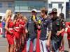GP GERMANIA, 07.07.2013- Nico Rosberg (GER) Mercedes AMG F1 W04, Sebastian Vettel (GER) Red Bull Racing RB9 e Kimi Raikkonen (FIN) Lotus F1 Team E21