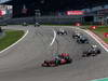 GP GERMANIA, 07.07.2013-  Gara, Jenson Button (GBR) McLaren Mercedes MP4-28 davanti a Nico Hulkenberg (GER) Sauber F1 Team C32