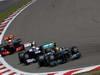 GP GERMANIA, 07.07.2013-  Gara, Lewis Hamilton (GBR) Mercedes AMG F1 W04 davanti a Pastor Maldonado (VEN) Williams F1 Team FW35