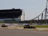 GP GERMANIA, 07.07.2013-  Gara, Kimi Raikkonen (FIN) Lotus F1 Team E21 davanti a Romain Grosjean (FRA) Lotus F1 Team E21