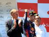 GP GERMANIA, 07.07.2013-  Gara, Hans Stuck e Sebastian Vettel (GER) Red Bull Racing RB9 vincitore with Emilio Botin (ESP), Santander Bank President