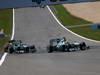 GP GERMANIA, 07.07.2013-  Gara, Lewis Hamilton (GBR) Mercedes AMG F1 W04 e Nico Rosberg (GER) Mercedes AMG F1 W04