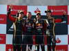 GP GERMANIA, 07.07.2013-  Gara, Sebastian Vettel (GER) Red Bull Racing RB9 vincitore, secondo Kimi Raikkonen (FIN) Lotus F1 Team E21 e terzo Romain Grosjean (FRA) Lotus F1 Team E21