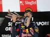 GP SINGAPORE, 22.09.2013- Podium winner Sebastian Vettel (GER) Red Bull Racing RB9