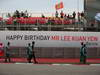 GP SINGAPORE, 22.09.2013- Banner of Birthday greetings from Bernie Ecclestone (GBR), President e CEO of Formula One Management
