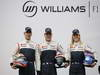WILLIAMS  FW35, (L to R): Pastor Maldonado (VEN) Williams with team mate Valtteri Bottas (FIN) Williams e Susie Wolff (GBR) Williams Development Driver.