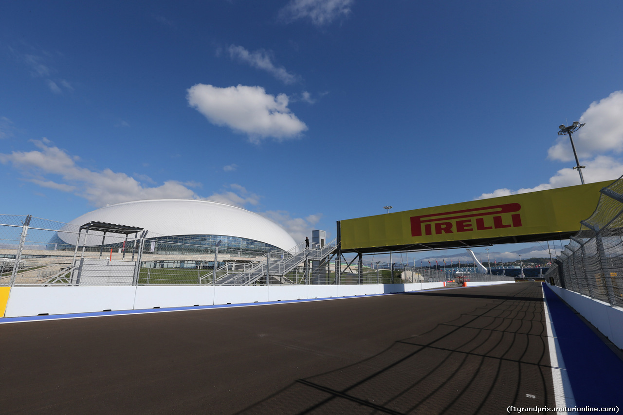 Gp russia, 09.10.2014- view of sochi circuit