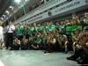 GP SINGAPORE, 21.09.2014 - Gara, Festeggiamenti, Nico Rosberg (GER) Mercedes AMG F1 is applauded by his team