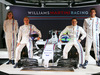 WILLIAMS MARTINI RACING FW36, (L to R): Susie Wolff (GBR) Williams Development Driver; Valtteri Bottas (FIN) Williams; team mate Felipe Massa (BRA) Williams; Felipe Nasr (BRA) Williams Test e Reserve Driver, with the new Martini liveried Williams FW36. 06.03.2014. Formula One Launch, Williams FW36 Official Unveiling, London, England.