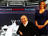 WILLIAMS MARTINI RACING FW36, (L to R): Frank Williams (GBR) Williams Team Owner with Claire Williams (GBR) Williams Deputy Team Principal. 06.03.2014. Formula One Launch, Williams FW36 Official Unveiling, London, England.