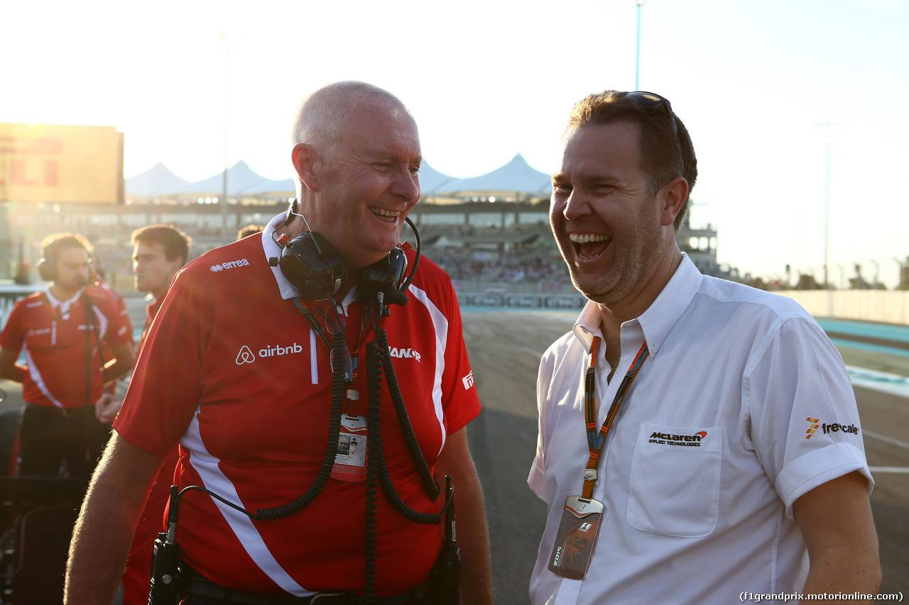 GP ABU DHABI, 29.11.2015 - Gara, (L) John Booth (GBR) Manor Marussia F1 Team Team Principal