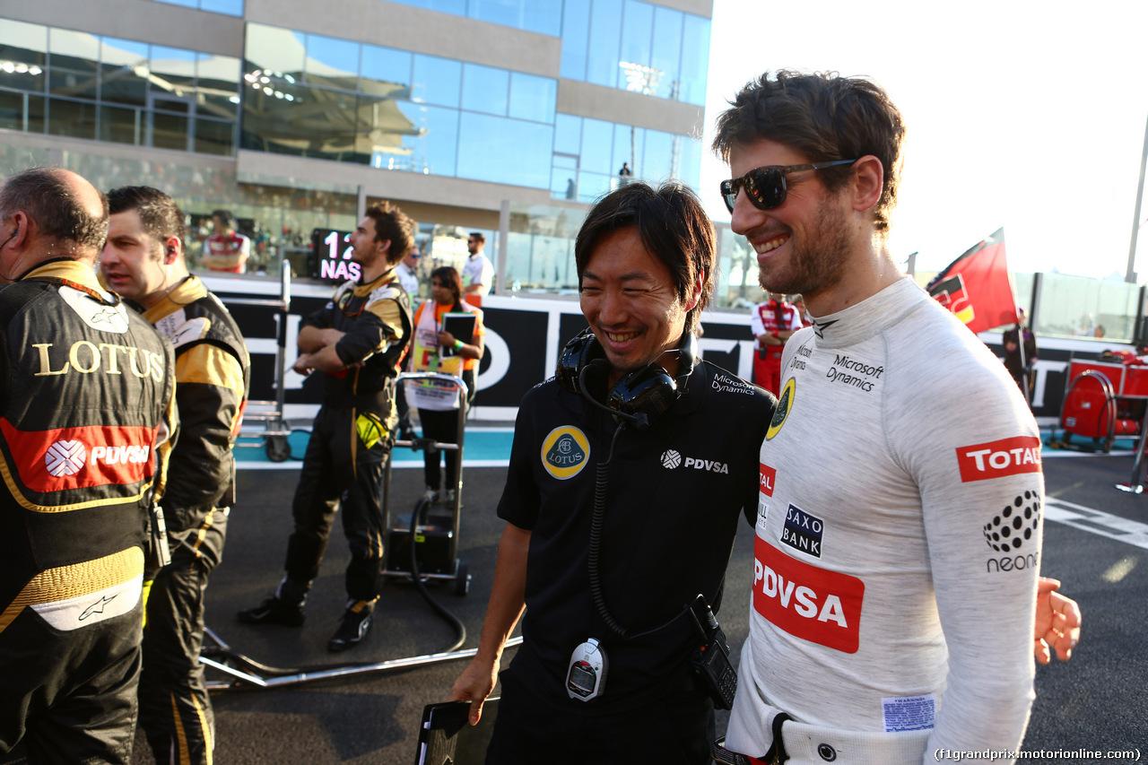 GP ABU DHABI, 29.11.2015 - Gara, Romain Grosjean (FRA) Lotus F1 Team E23