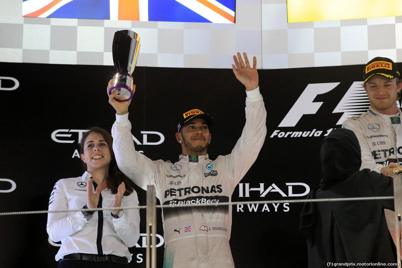 GP ABU DHABI, 29.11.2015 - Gara, secondo Lewis Hamilton (GBR) Mercedes AMG F1 W06