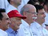GP ABU DHABI, 29.11.2015 - Nikki Lauda (AU), Mercedes, Dr. Dieter Zetsche, Chairman of Daimler e Toto Wolff (GER) Mercedes AMG F1 Shareholder e Executive Director