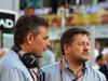 GP ABU DHABI, 29.11.2015 - Gara, Mario Isola (ITA), Sporting Director Pirelli  e Johnny Herbert (GBR), CHEVROLET Lumina CR8, Motorzone Gara Car