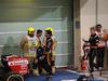 GP ABU DHABI, 29.11.2015 - Gara, Carlos Sainz Jr (ESP) Scuderia Toro Rosso STR10 e Nico Hulkenberg (GER) Sahara Force India F1 VJM08
