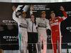 GP ABU DHABI, 29.11.2015 - Gara, 1st position Nico Rosberg (GER) Mercedes AMG F1 W06 vincitore, secondo Lewis Hamilton (GBR) Mercedes AMG F1 W06 e terzo Kimi Raikkonen (FIN) Ferrari SF15-T