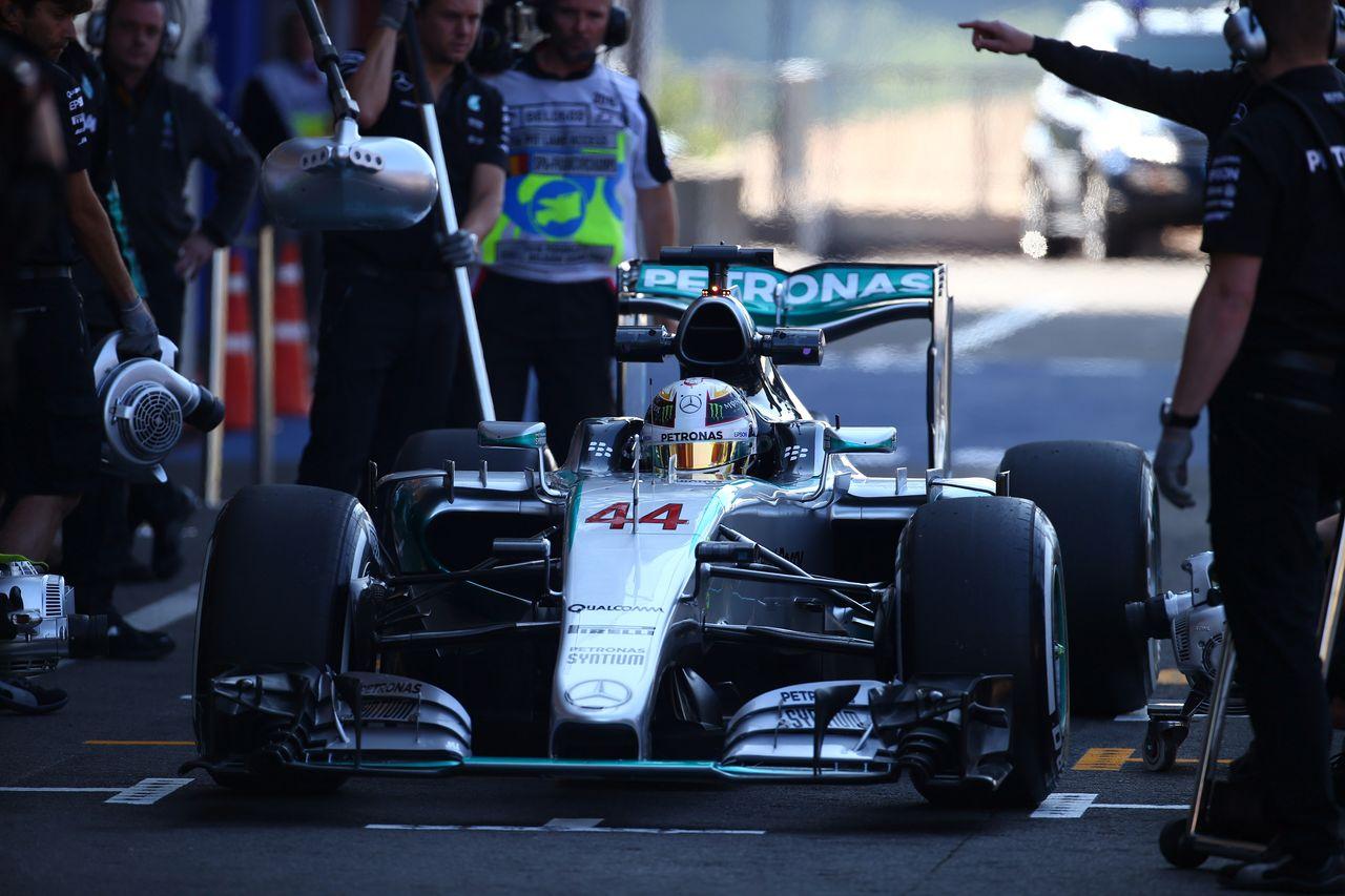 GP BELGIO, 21.08.2015 - Free Practice 1, Lewis Hamilton (GBR) Mercedes AMG F1 W06
