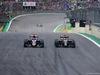 GP BRASILE, 15.11.2015 - Gara, Max Verstappen (NED) Scuderia Toro Rosso STR10 e Romain Grosjean (FRA) Lotus F1 Team E23