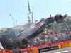 GP MONACO, 24.05.2015- Gara, Fernando Alonso (ESP) McLaren Honda MP4-30 is burning after the stop