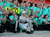GP SPAGNA, 10.05.2015- Nico Rosberg (GER) Mercedes AMG F1 W06 celebrates the victory with the team