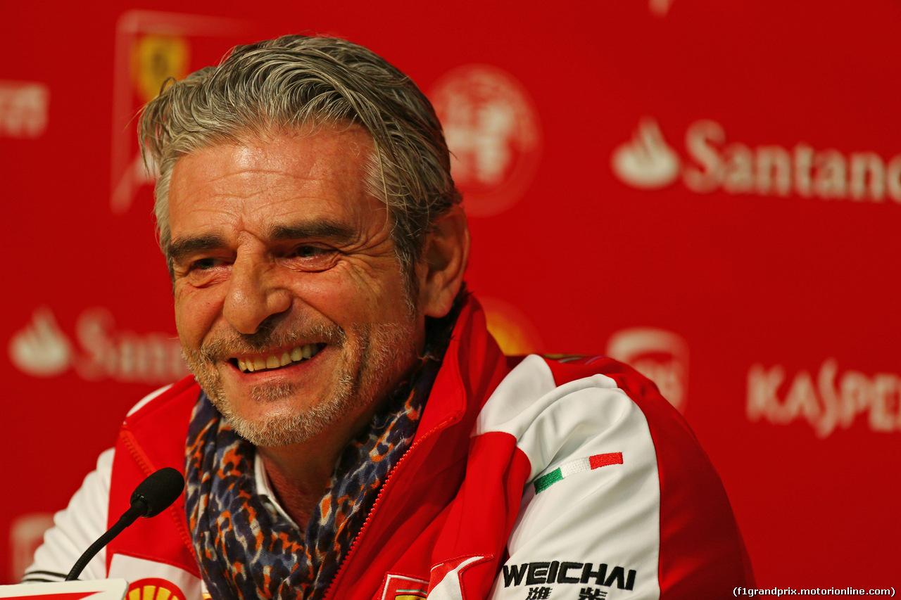 TEST F1 BARCELLONA 20 FEBBRAIO, Maurizio Arrivabene (ITA) Ferrari Team Principal.<br /><br /> 20.02.2015.