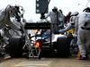 TEST F1 BARCELLONA 21 FEBBRAIO, Valtteri Bottas (FIN) Williams FW37 practices a pit stop. 21.02.2015.