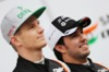 FORCE INDIA VJM09, Sergio Perez (MEX) Sahara Force India F1 (Right) with team mate Nico Hulkenberg (GER) Sahara Force India F1. 22.02.2016.