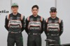 FORCE INDIA VJM09, (L to R): Nico Hulkenberg (GER) Sahara Force India F1 with Alfonso Celis Jr (MEX) Sahara Force India F1 Development Driver e Sergio Perez (MEX) Sahara Force India F1 at the Sahara Force India F1 VJM09 unveiling. 22.02.2016.